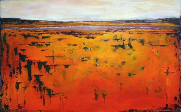 WHERE THE RIVER NARROWS...30X48...sold